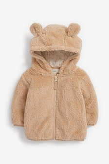 Toffee Cosy Fleece Bear Jacket (0mths-2yrs)