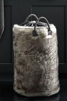 Cosy Faux Fur Laundry Bag
