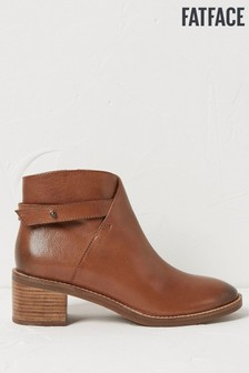 FatFace Brown Salcombe Ankle Boots