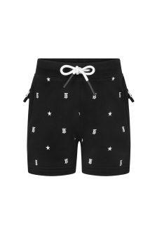 Burberry Kids Baby Girls Black Cotton Shorts