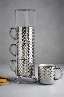 Celeste Stacking Espresso Mugs