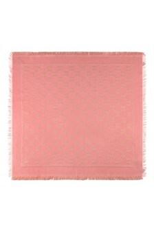 Girls Pink & Gold Shawl
