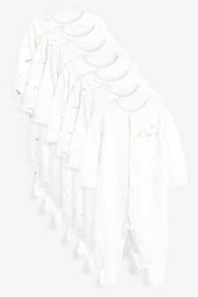 Bright Safari 7 Pack Printed Sleepsuits (0-2yrs)