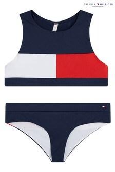 Tommy Hilfiger Blue Core Flag Bikini Set