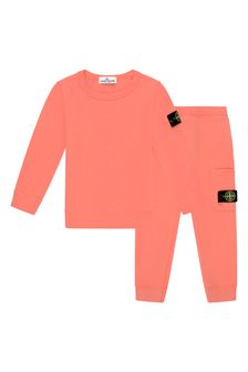 Boys Orange Cotton Tracksuit