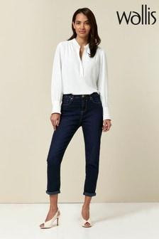 Wallis Indigo Multistictch Scarlet Jeans