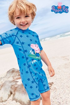 Blue Peppa Pig™ George Sunsafe Swimsuit (3mths-7yrs)