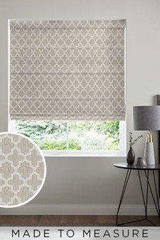 Helio Ivory Cream Made To Measure Roman Blind