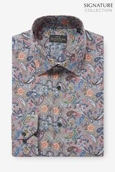 Neutral Paisley Print Signature Shirt