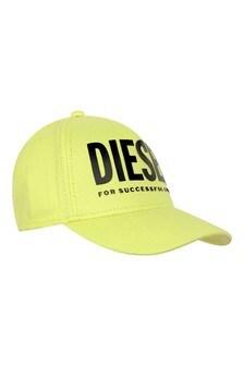 Boys Neon Yellow Cotton Cap