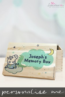 Personalised Peppa Pig™ George Pig Memory Box Gift Set by Signature PG