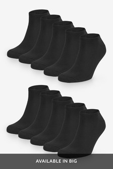Black Trainer Socks Ten Pack