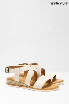 White Stuff New Bone Sofia Jute Mini Wedge Sandals
