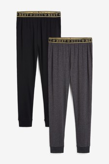 Black/Grey Two Pack Slim Cuffed Joggers