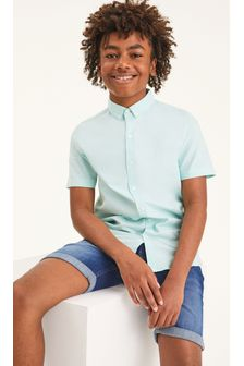 Mint Short Sleeve Oxford Shirt (3-16yrs)