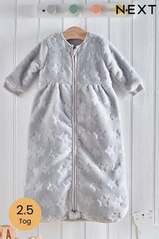 Grey Supersoft Star Fleece 2.5 Tog Sleep Bag