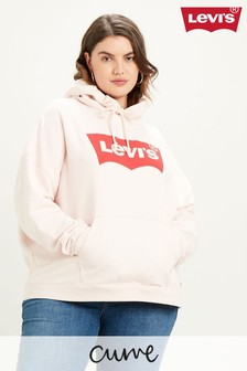 Levi's® Curve Pink Batwing Graphic Hoody