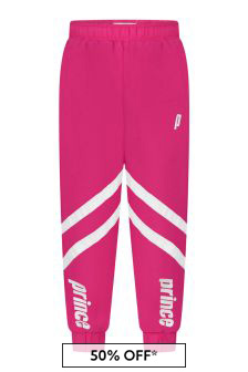 Prince Kids Pink Baseline Windbreaker Pants