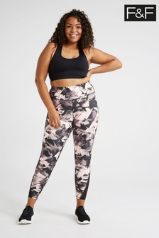 F&F Mono Pink Printed Leggings