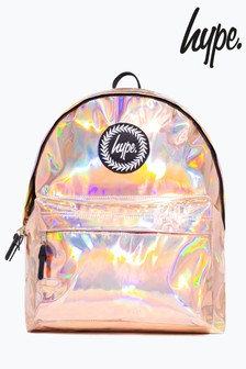 Hype. Rose Gold Holographic Backpack