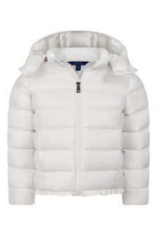Girls Ivory Padded Jacket