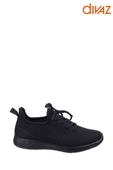Divaz Black Heidi Knit Shoes