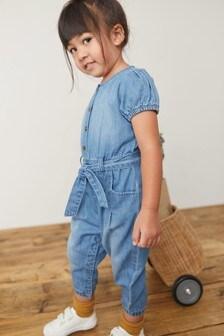 Denim Blue Boilersuit (3mths-7yrs)