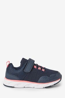Navy Blue/Pink Runner Trainers