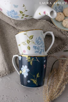 Set of 2 Laura Ashley Heritage Collectables Mugs