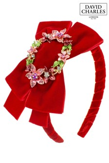 David Charles Red Bow Hairband