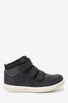 Black Strap Touch Fasten Boots (Older)