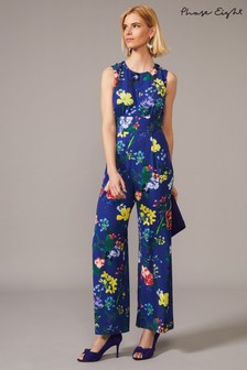 Phase Eight Blue Trudy Printed Jumpsuit