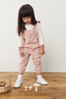 Pink Frill Dungarees (3mths-7yrs)