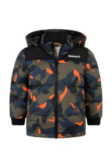 Boys Camouflage Print Padded Jacket