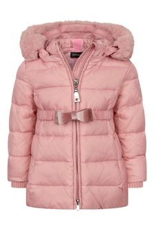 Baby Girls Pink Down Padded Coat