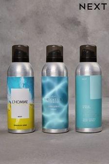 Set of 3 200ml Body Sprays