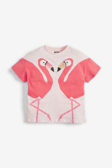 Pink Sequin Flamingo T-Shirt (3-16yrs)