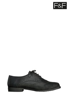 F&F Black Lace-Up Brogues