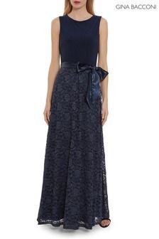 Gina Bacconi Jersey And Lace Dress