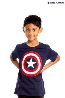 Fabric Flavours Blue Marvel® Avengers Captain America Shield T-Shirt