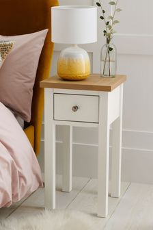 Chalk Malvern Slim 1 Drawer Bedside Table