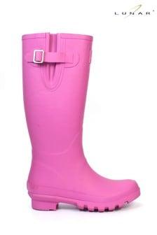Lunar Ladies Rubber Fashion Wellington Boots