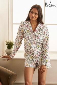 Boden White Janie Pyjama Shirt