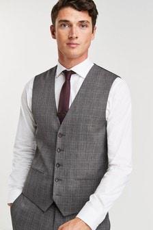 Grey Waistcoat Check Slim Fit Suit