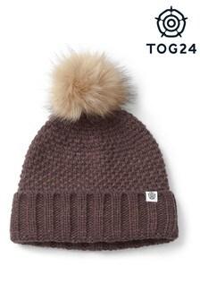 Tog 24 Brown Bristol Knit Bobble Hat
