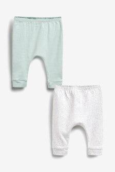 Mint 2 Pack GOTs Organic Leggings (0-12mths)