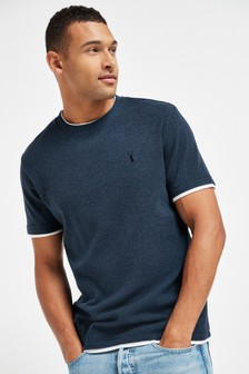 Navy Mock Layer T-Shirt