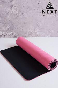 Black/Coral Yoga Mat