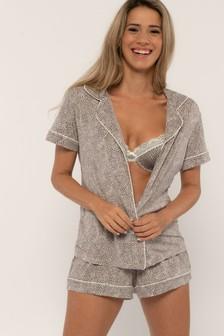 DORINA Brown Stephanie Pyjama Top