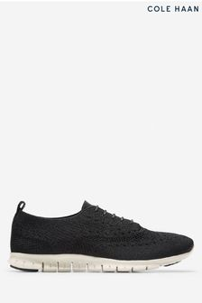 Cole Haan Black Zerogrand Wingtip Oxford Lace-Up Shoes